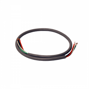 Wide Track 120V Gray Power Cord