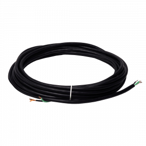 Wide Track 22 FT Black Power Cord