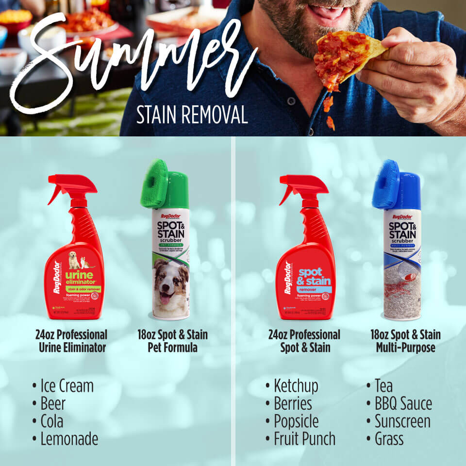 RD 052119 01 Summer Stains Infographic Rev - Summer Stain Removal with Rug Doctor Cleaning Solutions